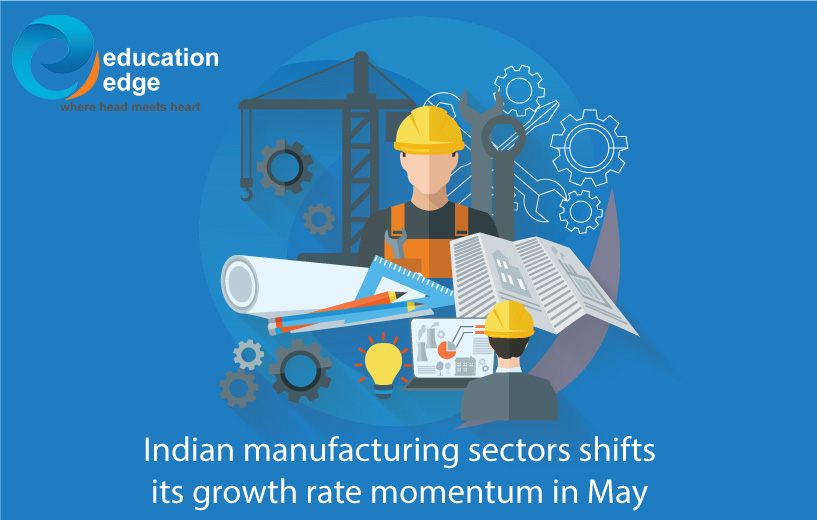 Indian manufacturing sectors shifts its growth rate momentum in May