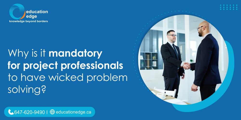 Why is it mandatory for project professionals to have wicked problem solving?